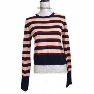 Zara Knit Striped Crop Sweater